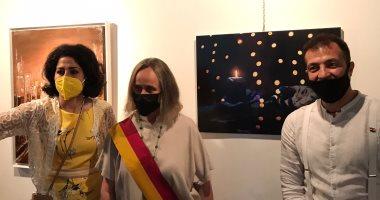 المكتب الثقافى المصرى بروما ينظم أول معرض فنى بعد توقف عامين بسبب كورونا..صور