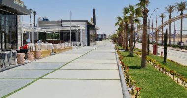 الانتهاء من تنفيذ الممشى السياحى بالشيخ زايد كمتنزه لسكان المدينة.. صور