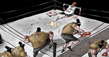 السعودية نيوز |                                              الأزمات تطيح بلبنان فى كاريكاتير سعودى