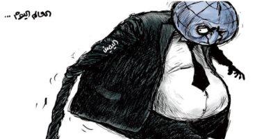 السعودية نيوز                                                كاريكاتير سعودى.. شبح اليمين المتطرف يسيطر على العالم