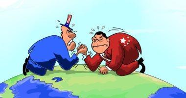 السعودية نيوز                                                كاريكاتير اليوم.. صراع اقتصادي بين أمريكا والصين