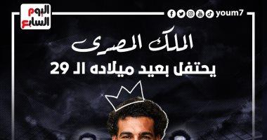 صورة الملك المصري محمد صلاح يحتفل بعيد ميلاده الـ 29 ..إنفو جراف
