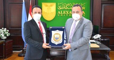 السعودية نيوز                                                رئيس جامعة الإسكندرية يستقبل الملحق الثقافى السعودى لبحث سبل التعاون