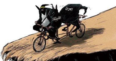 السعودية نيوز |                                              كاريكاتير اليوم.. الميليشيات الإرهابية فى العراق خطر على استقرار بغداد