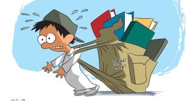 السعودية نيوز                                                استبدال الكتاب الورقى بالكتاب الإلكتروني في كاريكاتير سعودى