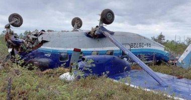 مشهد يوثق بطولة قائدا طائرة روسية سقطت فى مقاطعة تومسك بسيبيريا.. فيديو