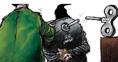 السعودية نيوز |                                              قاتل الهاشمى.. المليشيات تغتال الكاتب العراقى .. كاريكاتير سعودى