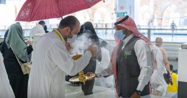السعودية نيوز |                                              شؤون الحرمين تستقبل المصلين في أول يوم العيد بالبخور.. صور