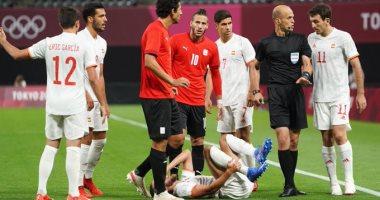 منتخب مصر في مباراته الاولى بالاولمبياد أمام اسبانيا