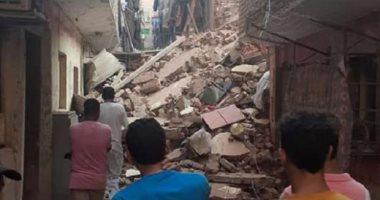 التحقيق فى انهيار عقار قديم بمنطقة اللبان دون إصابات بالإسكندرية
