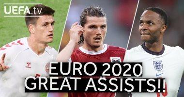 """شاهد.. أبرز """"أسيستات"""" اللاعبين في يورو 2020"""