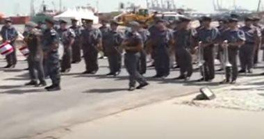مسيرة لقوى الأمن الداخلى بلبنان لوضع أكاليل زهور بموضع انفجار المرفأ.. فيديو