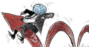السعودية نيوز |                                              كاريكاتير الشرق الأوسط عن الموجة الرابعة لكورونا: مؤشر الإصابات أشبه بالحصان الراكض
