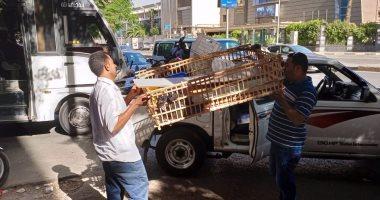 الجيزة ترفع 750 حالة إشغال لمحال ومقاهى حدائق الأهرام