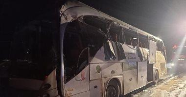 """ارتفاع ضحايا حادث انقلاب أتوبيس بطريق """"السويس- القاهرة"""" إلى 12 شخصًا"""