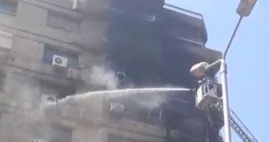 إصابة شخصين فى حريق شقة سكنية بالشرابية