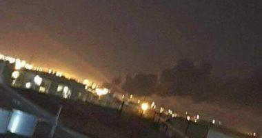 لحظة استهداف مطار أربيل الدولى فى العراق بطائرات مسيرة مفخخة.. فيديو