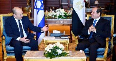 الرئيس السيسي يلتقى فى شرم الشيخ رئيس الوزراء الإسرائيلى