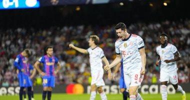 ليفاندوفسكى يضيف ثانى أهداف البايرن ضد برشلونة فى الدقيقة 56.. فيديو