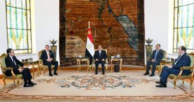 الرئيس عبد الفتاح السيسي وعبد الحميد الدبيبة