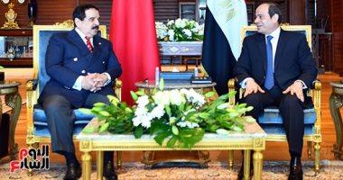 الرئيس عبد الفتاح السيسى وملك البحرين