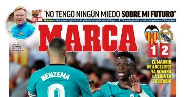 صورة ريمونتادا ريال مدريد ضد فالنسيا ووفاة أسطورة إنجلترا أبرز عناوين صحف أوروبا