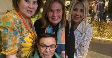 سمير صبري فى أول ظهور بعد شائعة وفاته مع يسرا وبوسى.. فيديو وصور