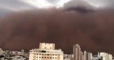 عاصفة رملية تجتاح سماء ساو باولو
