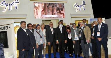 وزير الآثار يتفقد الجناح المصرى بباريس ويلتقى كبار منظمى الرحلات