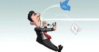 """بـ""""الوعى"""" تتحطم الأكاذيب في كاريكاتير سعودى"""