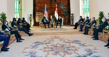 إرادة سياسية مشتركة وعلاقات قوية.. الرئيس السيسى يستقبل نظيره رئيس جنوب السودان