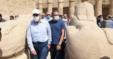 جولة رئيس الوزراء بالأقصر لتفقد المشروعات السياحية والخدمية والتنموية