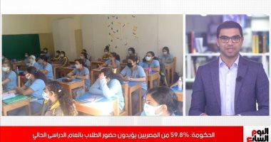 مركز معلومات مجلس الوزراء :غالبية المصريين يؤيدون حضور أولادهم للمدارس..(فيديو)