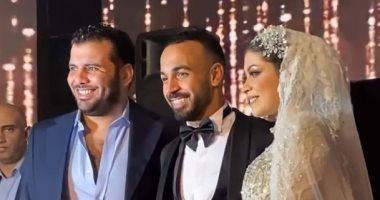 """عماد متعب وعبد الستار صبرى يحضران حفل زفاف """"أفشة"""""""