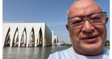 """نجيب ساويرس أمام مسرح مهرجان الجونة :""""أمال فين الحريقة؟.. الحمد لله"""""""