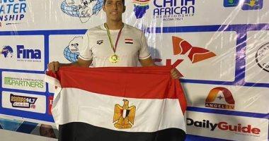 محمد سامى يضيف ذهبيتين لمصر فى بطولة إفريقيا للسباحة