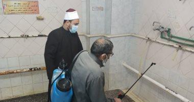 تعقيم دورات المياه بالمساجد
