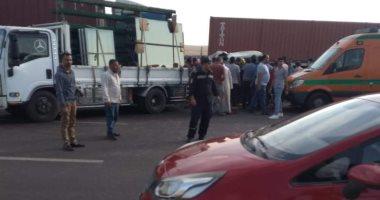 مصرع 17 شخصا فى حادث تصادم سيارة نقل بميكروباص