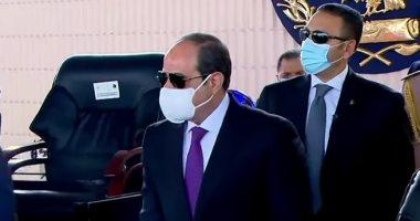 الرئيس عبد الفتاح السيسى بمقر الاحتفالية