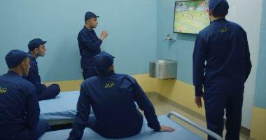 تفاعل السجناء مع المباريات