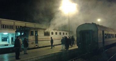 اندلاع حريق فى قطار جديد.. والركاب يقفزون من النوافذ