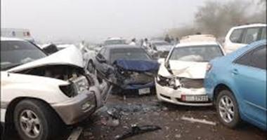 إصابة 18 فى 5 حوادث متفرق بطريق السخنة بالسويس