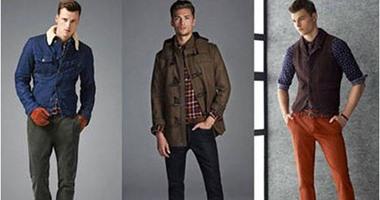 44e16c4cd بالصور.. اللون الأزرق والبنى والبرتقالى فى أزياء الرجال لخريف وشتاء 2015