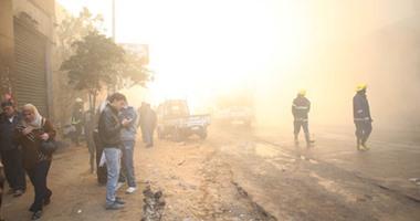 السيطرة على حريق داخل مصنع كرتون فى الهرم دون إصابات