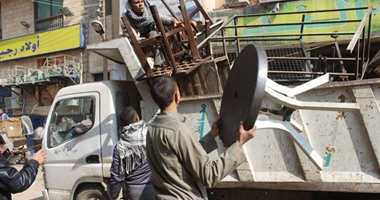 تحرير 129 محضر إشغالات بمدينة المنشاه جنوب سوهاج