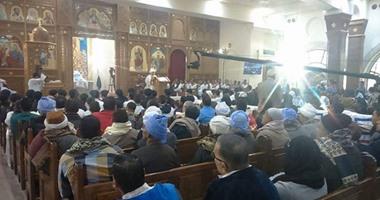 مطرانية سمالوط تحتفل بذكرى عودة رفات 20 قبطيا استشهدوا على يد داعش