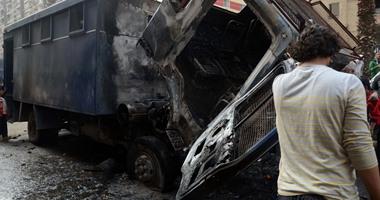 استشهاد مجند وإصابة 19 إثر انقلاب سيارة أمن مركزى بطريق الواحات الصحراوى