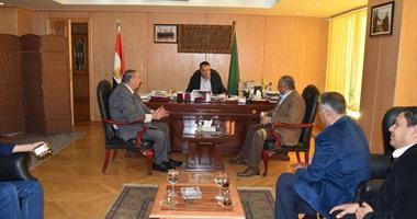 محافظ الفيوم يدعم مصر المقاصة قبل مواجهة الدفاع الإثيوبى