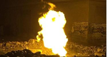 المعاينة تكشف حجم خسائر حريق خط غاز العياط