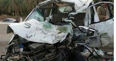 مصرع شخص وإصابة 9 فى حادث انقلاب سيارة بالمنيا